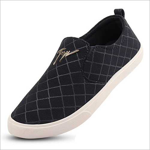 Mens Checked Canvas Loafer
