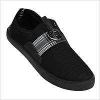 Mens Black Canvas Loafer