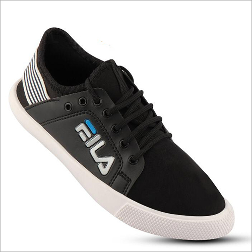 Mens Black Casual Sneakers Shoe