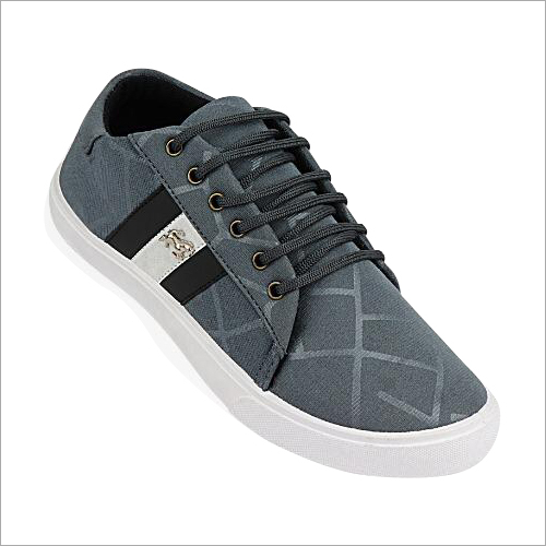Mens Gray Sneakers Shoes