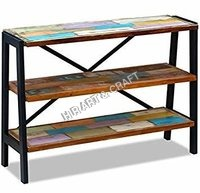 Classic Reclaimed Wood Side Table With 03 Layer