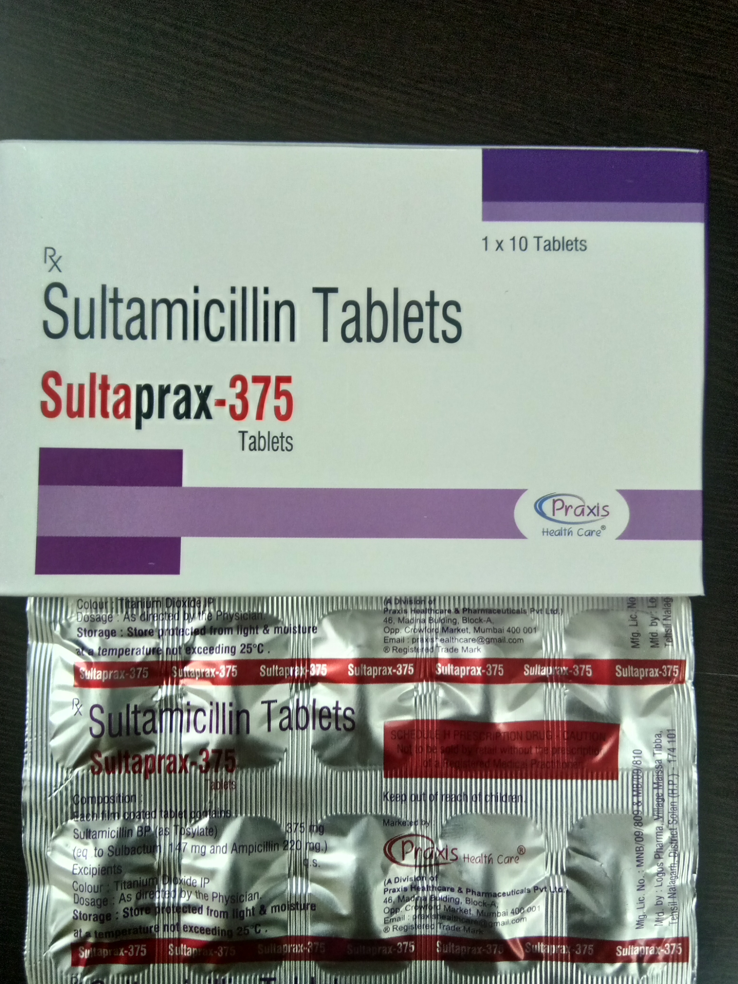 SULTAPRAX-375 Tablets