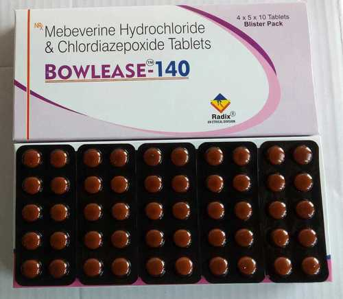 Mebeverine 135 mg & Chlordiazepoxide 5 mg
