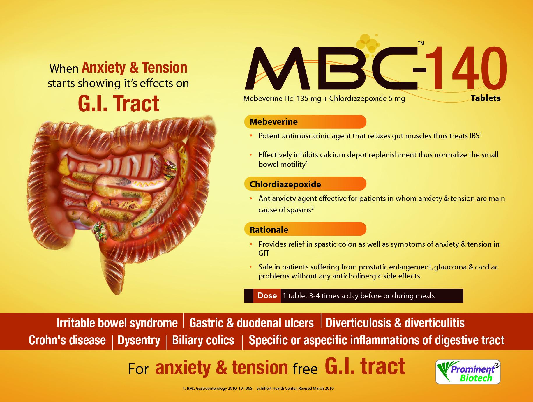 Mebeverine 135 mg & Chlordiazepoxide 5 mg