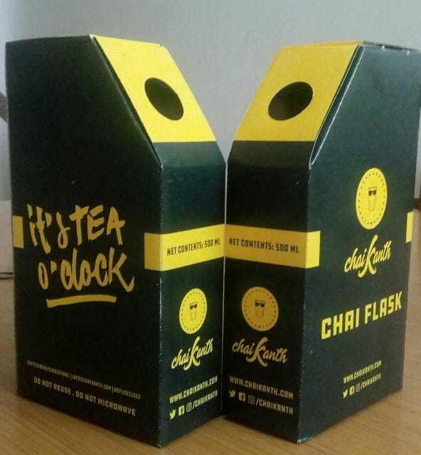 Chai Tea Flask With Aluminium Pouch
