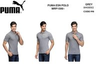 PUMA COLLAR GREY  T SHIRT