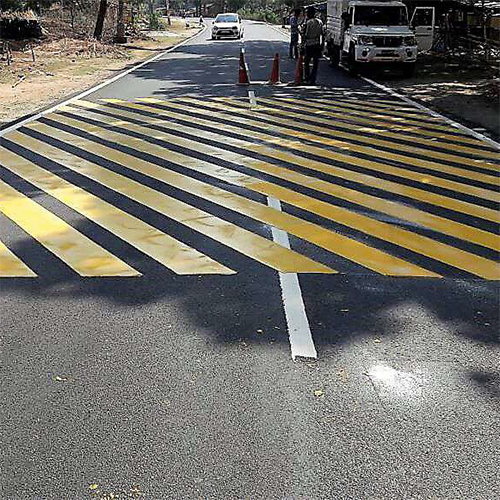 Yellow Rumble Strips