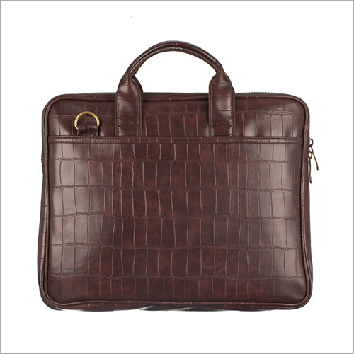 Mens Brown Leather Laptop Bag