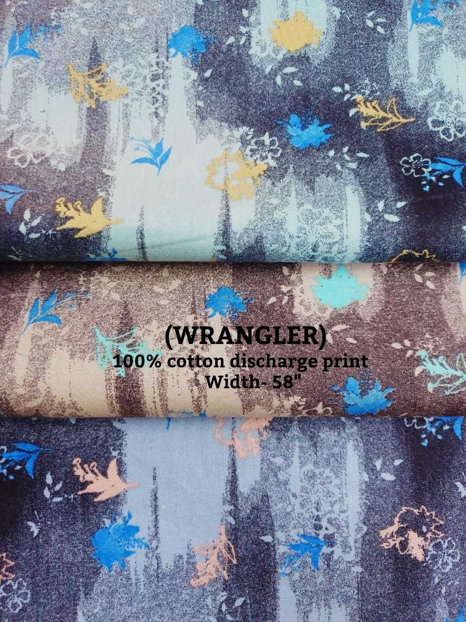 WRANGLER 100% cotton discharge check print