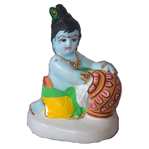 Matkewala Krishna Clay Statue