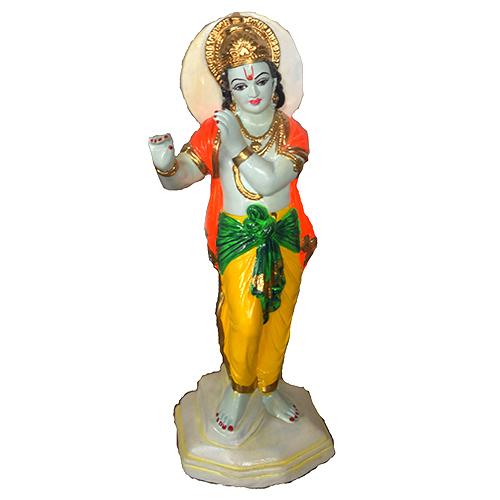 Basuri Krishna Clay Statue