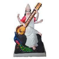 Sarswati Clay Statue