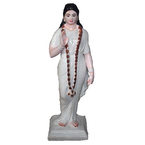 Sadhavi Clay Statue