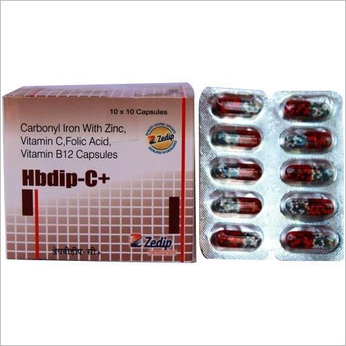 Carbonyl Iron With Zinc Vitamin C Folic Acid Vitamin B12 Capsules