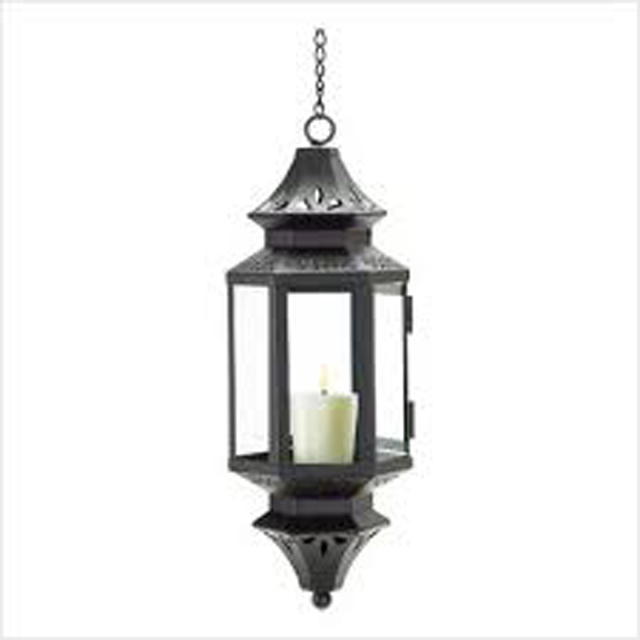 Hanging Moroccan Lantern Glass Outdoor Candle holder