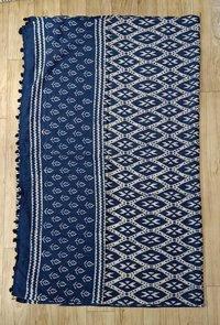 Hand-block printed cotton duppatta