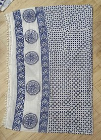 Hand-block printed cotton duppatta
