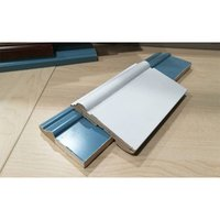 Waterproof interior wood grain PVC Baseboard moulding