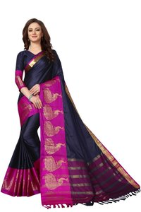 Designer Peacock Design Cotton Saree