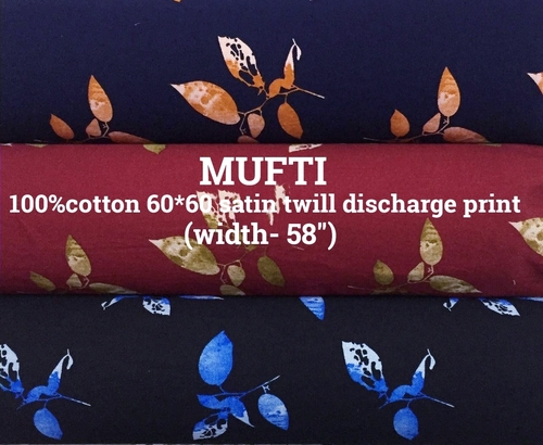 MUFTI 100% cotton 60*60 satin shirting fabric