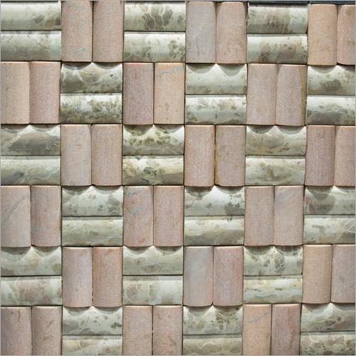 Double Moulding Marble Mosaic Tile