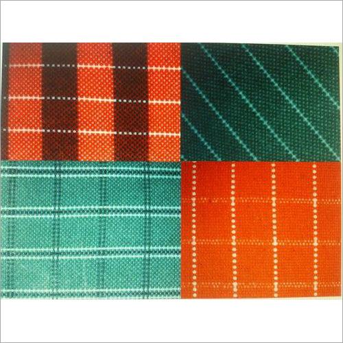 Check Printed Cotton Canvas Fabric