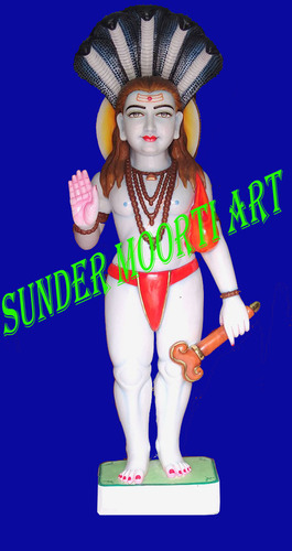 Standing Baba Balaknath Marble Statue