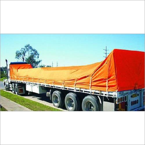 Orange Polyester Trucks Tarpaulins