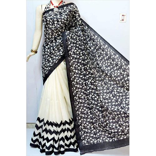 Black And White Designer Saree