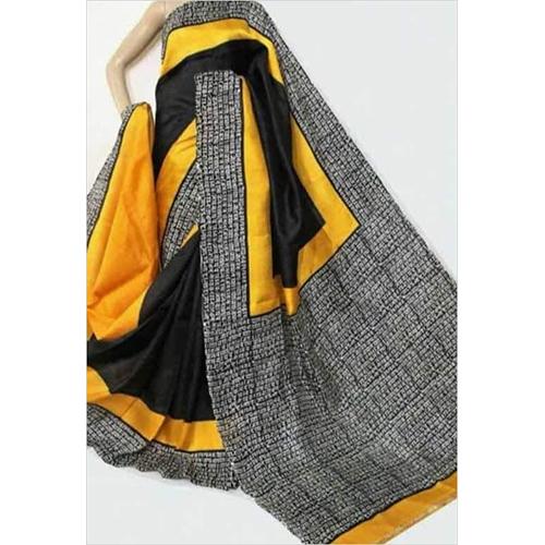 Block Printed Bishnupur Silk Saree