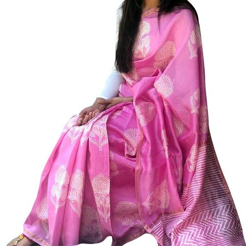 Pink Bishnupuri Silk Saree