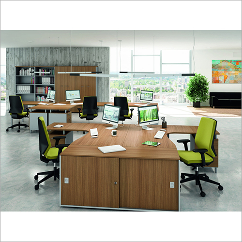 Wooden Open Office Work Station