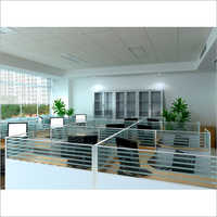 Office Half Glass  Height Partition
