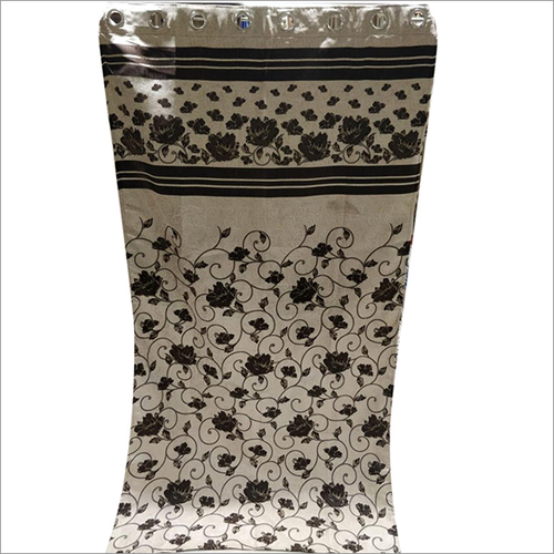 Floral Printed Dew Drop Panel Curtain