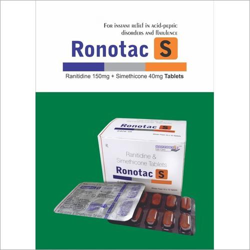 Ranitidine 150mg Simethicone 40mg Tablets
