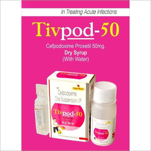 50 MG Cefpodoxime Proxetil Dry Syrup
