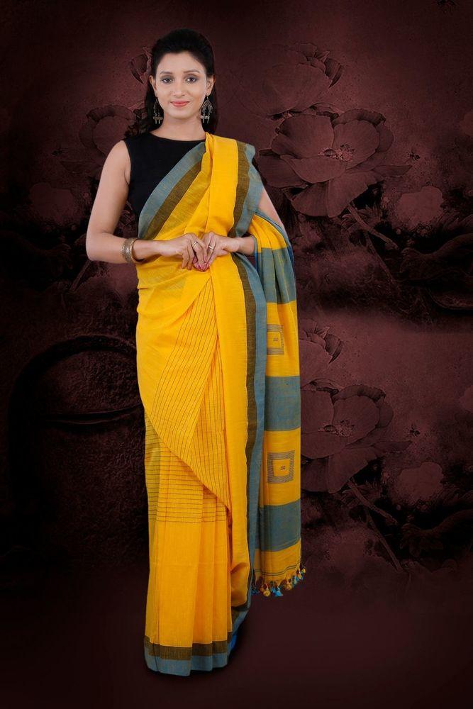 Pure Cotton Handwoven Saree