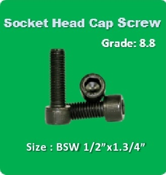 Socket Head Cap Screw BSW 1 2x1.3 4