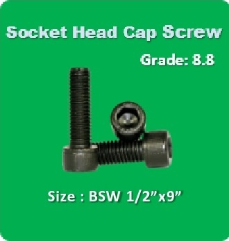 Socket Head Cap Screw BSW 1 2x9