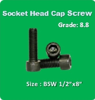Socket Head Cap Screw BSW 1 2x8