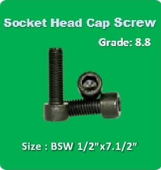 Socket Head Cap Screw BSW 1 2x7.1 2
