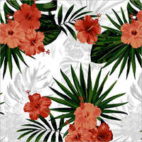 Polyester Flower Print Fabric
