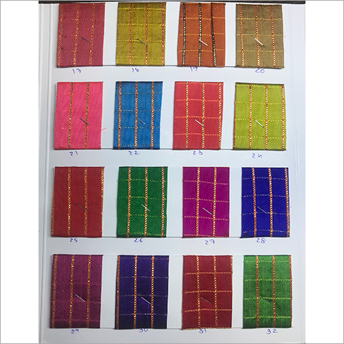 Printed Sqaure Check Fabric