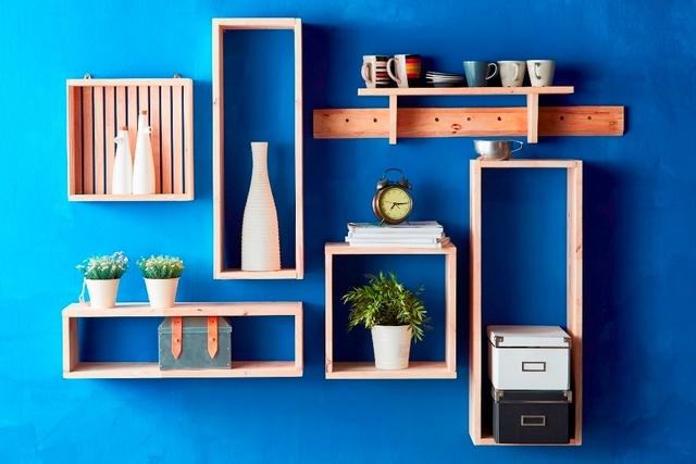 Wooden SML Rectangular Shelf