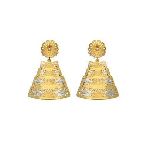 Triangle Italian Gold Hanging Earring