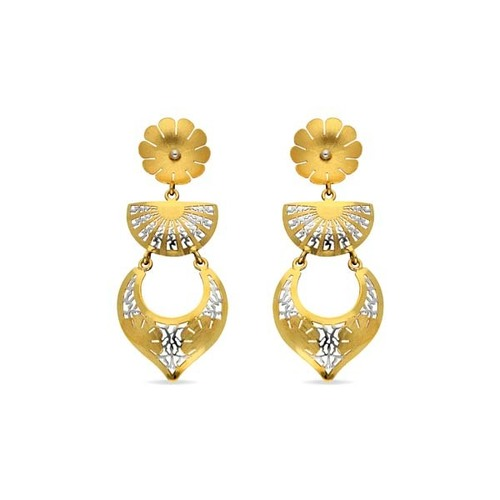 Gold  Hanging Earring drop shape