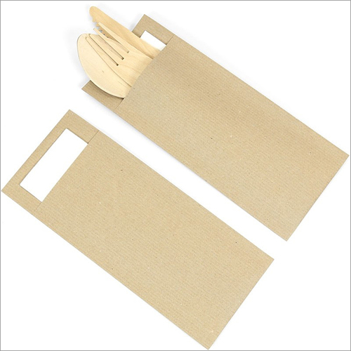 Customized Printed Cutlery Paper Pouch