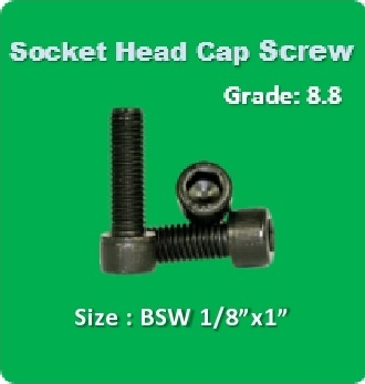 Socket Head Cap Screw BSW 1 8x1