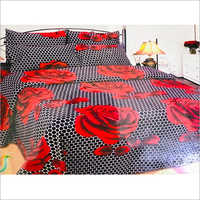 Red Rose Printed Bed Sheet