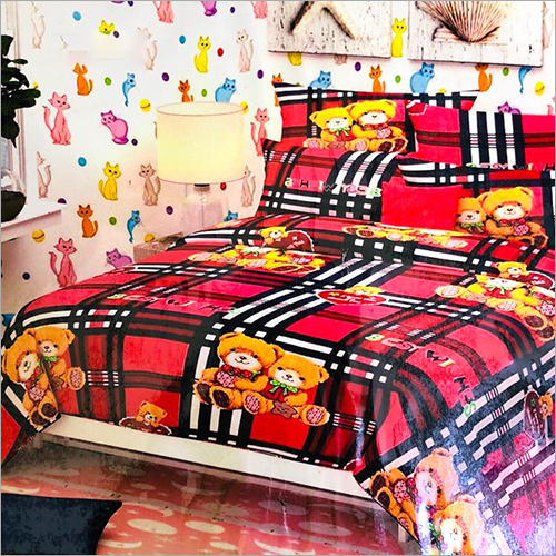 Cartoon Print Duvet Cover Set